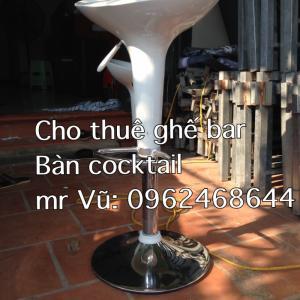 Cho thuê bàn cocktail, bàn ghế tiệc
