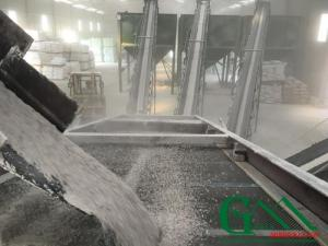 Kho chứa bột đá công ty TNHH Khoáng Sản Xanh