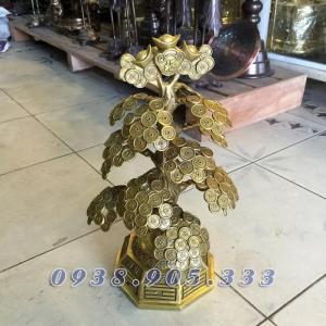 Cây tiền phong thủy bày bàn thờ thần tài 40cm
