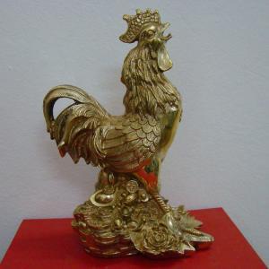 Tượng gà đứng tiền phong thủy cao 50cm