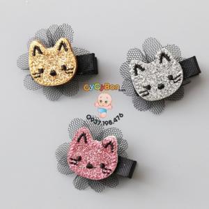 Kẹp Tóc Cho Bé Mèo Hello Kitty