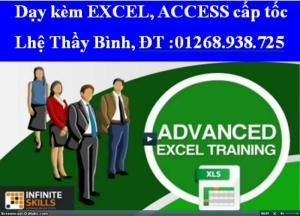 Dạy kèm Word, Excel cấp tốc, đi làm, phỏng vấn, Thi A,B