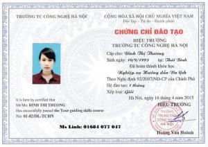 Đào tạo nghiệp vụ hướng dẫn viên du lịch ngắn hạn-cấp chứng chỉ