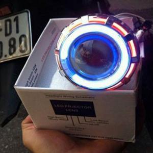 Đèn Led Projector Lens H14 Gương Cầu Cho Moto...