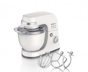 Dung tích lớn 4.0 lít  Máy Chế Biến Thực Phẩm Philips HR7915 có dung tích lớn 4.0 lít, chứa được nhiều nguyên liệu, giúp bạn chế biến được nhiều thực phẩm cùng lúc, tiết kiệm thời gian vào bếp.  Máy chế biến thực phẩm đa năng  Máy Chế Biến Thực Phẩm Philips HR7915 trang bị 3 dụng cụ chế biến thực phẩm, với 3 chức năng: trộn bột, nhào bột, đánh trứng, đáp ứng nhiều mục đích sử dụng của bạn. Bạn có thể nhào và trộn các loại bột, đánh kem, đánh trứng, và các loại thực phẩm khác một cách nhanh chóng.