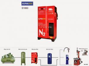 Máy bơm khí Nitơ Anpha Plus S1860-100 xe ô tô...