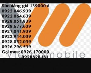 Sim thần tài đồng giá 139000 đ ,mua 1 sim tặng 1 sim