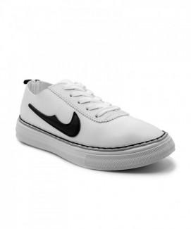 Giày nữ Sneaker trắng viền đen MSN8108