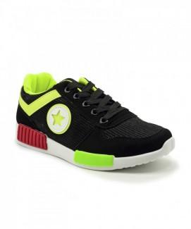 Giày nữ Sneaker đen phối xanh MSN8119