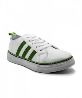 Giày nữ Sneaker trắng sọc xanh MSN8167