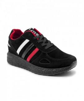 Giày nữ Sneaker đen sọc (có chữ LOVE) MSN8175