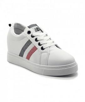 Giày nữ Sneaker trắng sọc đỏ đen MSN8179