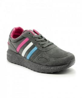 Giày nữ Sneaker xám chuột 3 sọc MSN8181