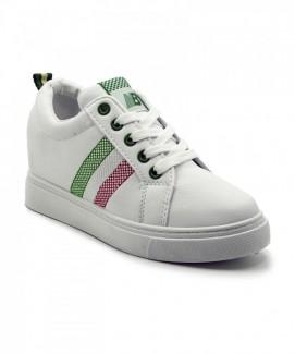 Giày nữ Sneaker trắng sọc đỏ xanh MSN8182