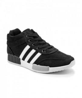 Giày nữ Sneaker đen sọc trắng MSN8112