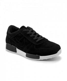 Giày nữ Sneaker đen đế trắng MSN8118