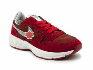 Giày nữ Sneaker đỏ viền xám MSN8120