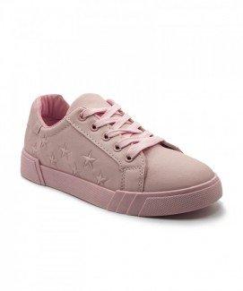 Giày nữ Sneaker hồng họa tiết ngôi sao MSN8176