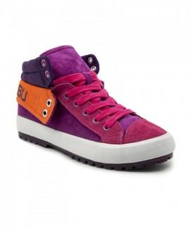 Giày nữ Sneaker tím phối hồng đế trắng MSN1078