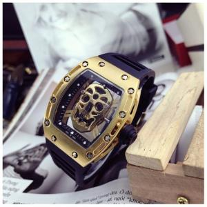 Đồng hồ  Mille Dây kim loại - Mặt đầu lâu