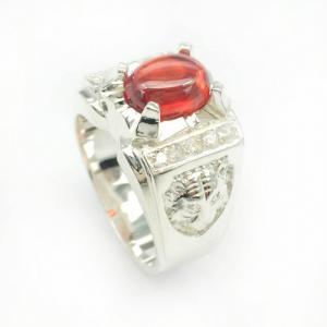 Nhẫn bạc nam sư tử. được chế tác bởi những bàn tay tài hoa của người thợ trang sức việt nam