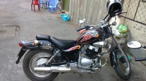 Ra đi xe moto husky 150cc độ dáng rebell cổ...