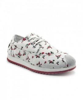 Giày nữ Sneaker trắng họa tiết hoa độc đáo MSN1100