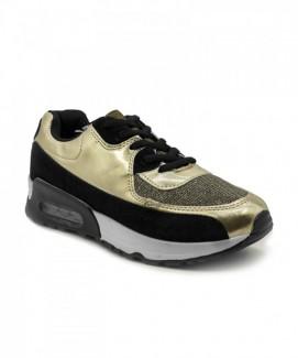 Giày nữ Sneaker vàng viền đen MSN1186