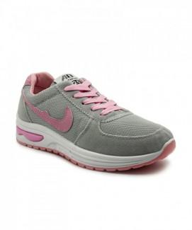 Giày nữ Sneaker xám phối hồng MSN1202