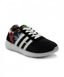 Giày nữ Sneaker đen sọc trắng MSN1588