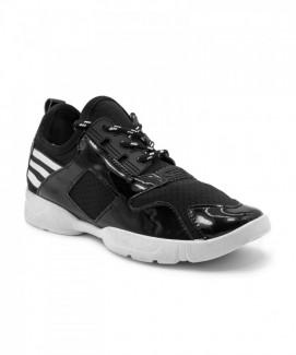 Giày nữ Sneaker đen đế trắng MSN1709