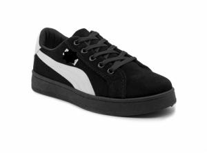 Giày nữ Sneaker đen viền trắng MSN8004