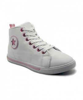 Giày nữ Sneaker trắng họa tiết ngôi sao MSN8001