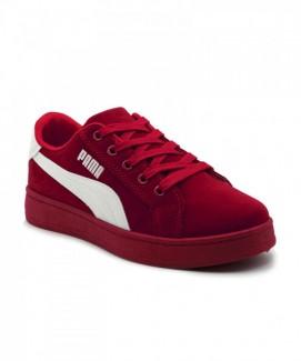 Giày nữ Sneaker đỏ viền trắng MSN8016