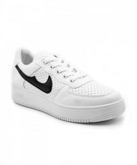 Giày nữ Sneaker trắng viền đen MSN1984