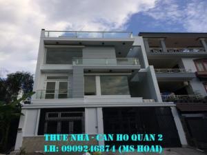 Cho thuê nhà phố An Phú, 6x20m, trệt 2 lầu, 4PN nhà đẹp Giá 30tr/tháng.