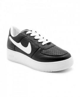 Giày nữ Sneaker đen viền trắng MSN1985