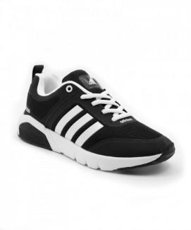 Giày nữ Sneaker đen sọc trắng MSN3003