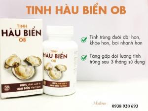 Tinh hàu biển OB với chiết xuất 100% từ hàu biển Việt nam giúp bổ sung kẽm, giúp tăng cường sinh lực nam giới và cải thiện chỉ số tinh trùng.