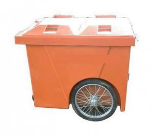 Xe gom rác nhựa 4 bánh xe 660l, xe gom rác nhựa HDPE 3 bánh xe, xe gom rác tôn 500l