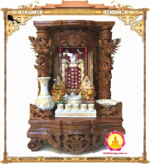 MS: CX6088 Bàn thờ thần tài chạm khắc tinh xảo, mang phú quý tài lộc cho gia chủ, với thiết kế hài hòa phong thủy phù hơp.
