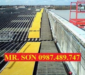 sàn trên mái nhà frp, sàn lót composite