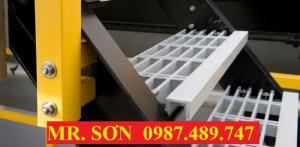 Sàn thao tác trên cao frp, Tấm sàn frp grating, Sàn kháng hóa chất-Mr. Sơn