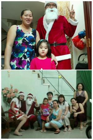 Ông già Noel phát quà đêm Giáng sinh