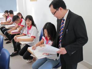 Lớp học tại Học viện Nhật ngữ Hinode