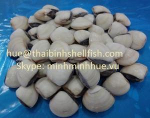Nghêu trắng nguyên con đông lạnh size 60/80 (pcs/kg), thùng bulk 10 kgs