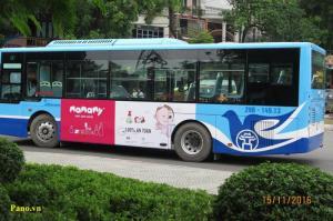 Quảng cáo trên xe bus Hà Nội và HCMC