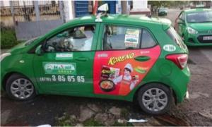 ảnh taxi đã thi công