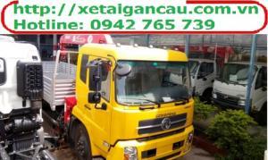 Xe tải cẩu Dongfeng B170 gắn cẩu 3 tấn