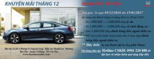 Honda Ôtô Cần Thơ - Chương trình khuyến mãi tháng 12.